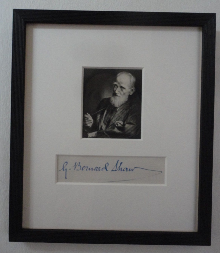 George Bernard Shaw Irish Playwright LSE Founder Autograph & Antique Photo